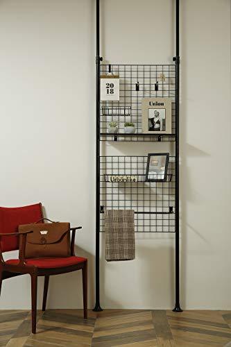 Casamaru Magic Partition Medium (Steel) Value Set, 26-Piece Accessories Included, 4-in-1 Home Furniture Offering Storage/Organizer/Room Divider/Photo Display, Height Adjustable (Black, Value Set)