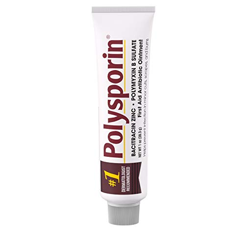 Polysporin First Aid Antibiotic Ointment Without Neomycin, Travel Size, 1 Oz Tube