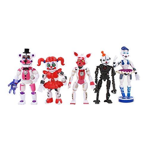 Nuevo 5Pcs / Set FNAF Five Nights At Freddys Freddy Toys Bonnie Foxy Fazbear Bear con figuras movibles de PVC ligero Toy 10~16cm