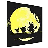 The Moon Of Raichu Framed Wall Art Canvas Giclee Print Artwork Pics Modern Wall Decor For Home Living Room Bedroom Office Ready To Hang