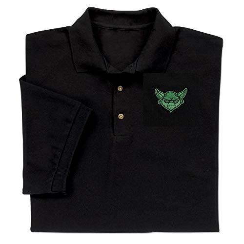 ComputerGear Star Wars Novelty Yoda Polo Shirt for Men Women Girls Boys Large Black