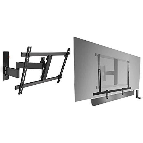 Vogel'S Wall 3345 - TV Wandhalterung für 40-65 Zoll Fernseher, Wandhalter, Schwenkbar & Neigbar bis 180°, Fernsehhalterung für die Wand, Smart TV Halterung & Sound 3550 Soundbar Halterung Universell