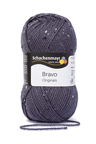 Schachenmayr Handstrickgarne Bravo, 50G Graublau Tweed