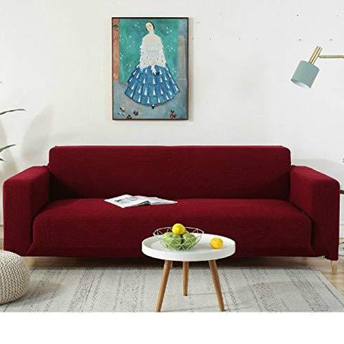 Funda de sofá Gruesa Resistente al Desgaste y a Prueba de Mascotas, Funda de sofá Universal elástica, Suministros de sofá Rojo Vino 145-185cm