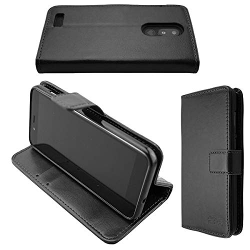 caseroxx Handy Hülle Tasche kompatibel mit Emporia Smart 3 Mini Bookstyle-Case Wallet Case in schwarz