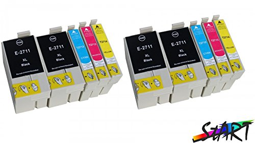 Start - Cartucce d'inchiostro compatibili per Epson 27XL (4 Nero, 2 Ciano, 2 Magenta, 2 Giallo) Alta Capacita Compatibile con Epson Workforce WF 3620 3640 7610 7620 7110