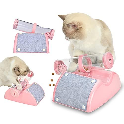 PETJOUET 猫 おもちゃ ねこ おやつおもちゃ 早食い防止 ペット用品 餌やり玩具 猫爪とぎマット 猫用おもちゃ ボール 回転 鈴入りボール 猫じゃらし 運動不足解消 ストレス解消 知育玩具 ペットおもちゃ ペットグッズ ねこ用品 猫のおもちゃ 安全