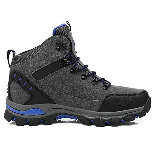 RTYUI Chaussures de sécurité, Hommes Chaussures de Travail avec Bout en Acier Chaussures Respirantes légères Chaussures de Protection sneakergray-43