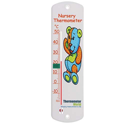 Thermomètre mural chambre d'enfant – Bébé pour enfant Chambre à coucher Jauge de température ambiante – Facile à suspendre