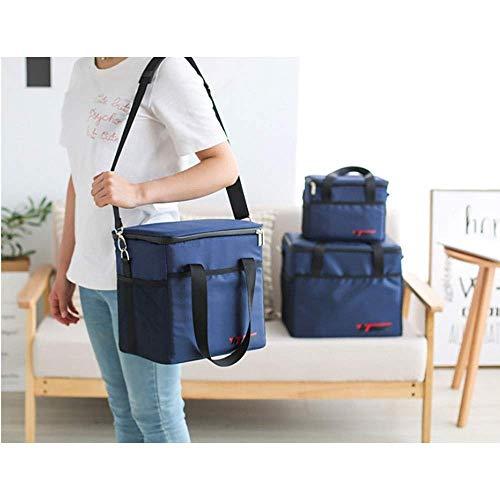 Bolsa de Picnic Picnic Basket Tote Picnic Mochila para la Persona Set Pack con Bolsa Impermeable aislada para la Familia Camping al Aire Libre (Azul) para el Viaje/Picnic/Deportes/Vuelo (Color: