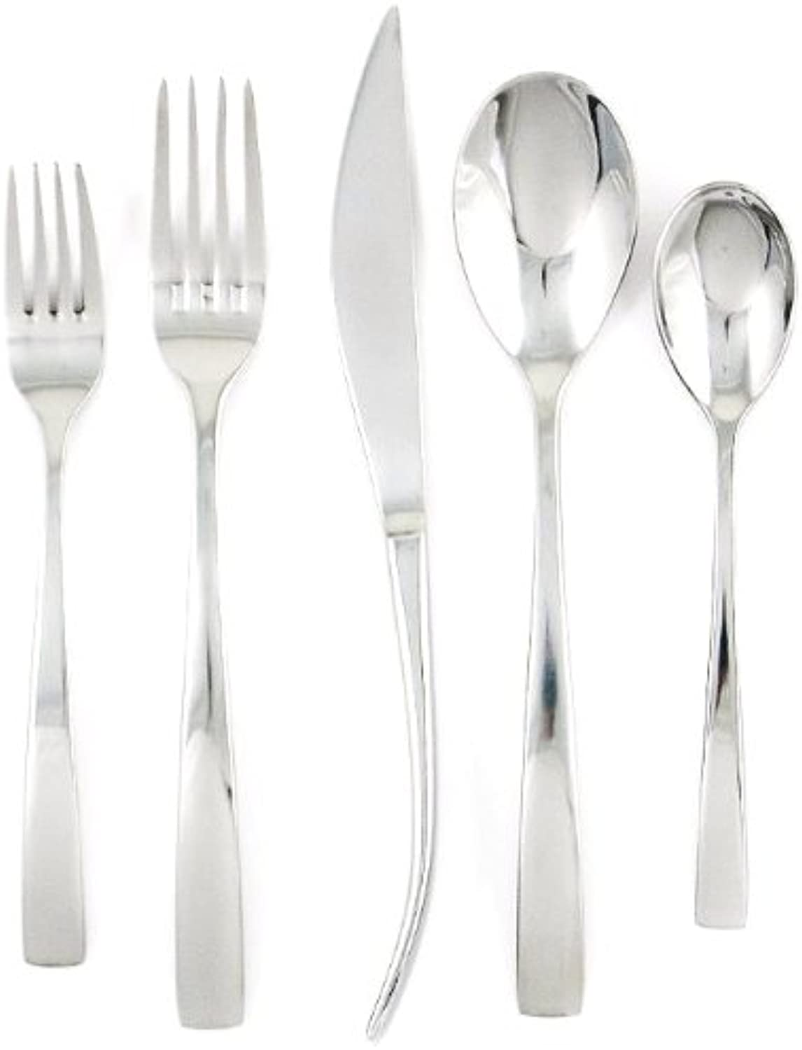 Ginkgo International President 42-Piece Stainless Steel Flatware Place Setting, Service for 8 Plus 2-Piece Hostess Set