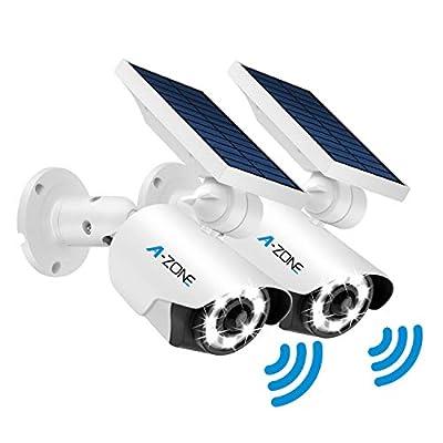 Solar Motion Sensor Light Outdoor - 800Lumens 8 LED Spotlight 5-Watt Solar Lights Outdoor IP66 Waterproof, Wireless Solar Flood Light for Porch Garden Patio Driveway Pathway, Aluminum