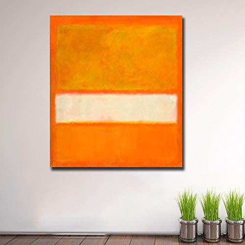 JNZART Große Größe Wandbilder Für Wohnzimmer Abstrakte Mark Rothko No. 11 Leinwand Kunst Wohnkultur Moderne Ölgemälde 60X70 cm