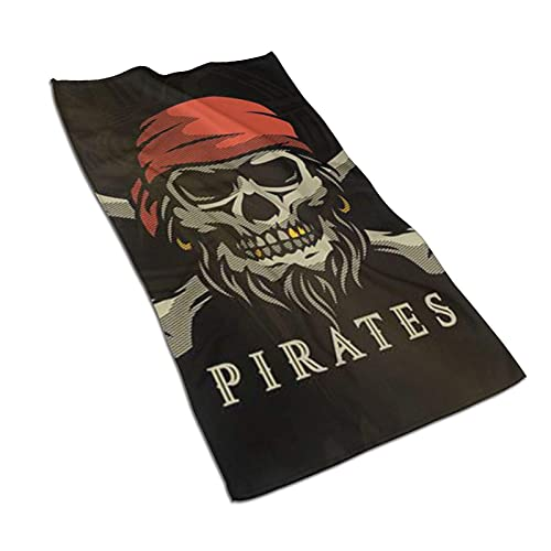 Pirate Skull Toalla de baño de Microfibra Suave Toallas de Cocina de baño de Mano 27.5 X 17.5 Pulgadas Toallitas súper absorbentes para Limpieza de Platos Accesorios para la habitación del hogar Paño ✅