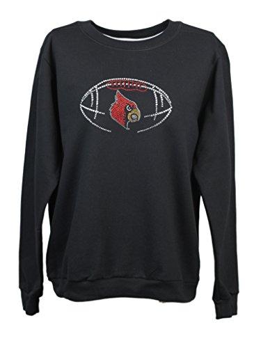 Nitro USA NCAA Damen Sweatshirt mit Strasssteinen und Metallic-Kardinalskelett, Damen, schwarz, X-Large