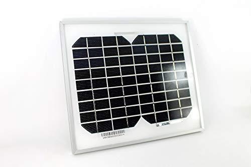 PK Green 5W 12V Panel Solar Portátil Monocristalino para Camping, Caravanas, Coche, Jardín, Exterior, Cargar Batería 12V