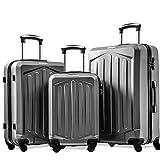 Sunangmas Samsonite - Maleta con 4 hiladores, Juego de 3 Piezas, Concha de Mano, Cabina, Equipaje Extensible, Maleta Liviana con Bloqueo numérico para Viajes de 20/24/28 Pulgadas