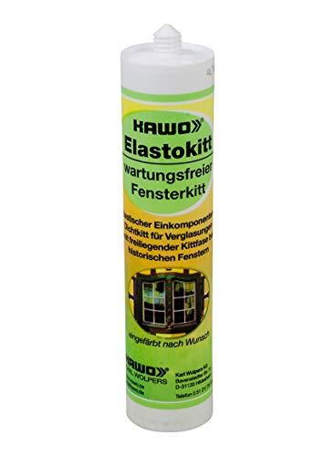 KAWO Elastokitt Fensterkitt altweiß 310 ml Dichtkitt Reperaturkitt Kitt wartungsfrei