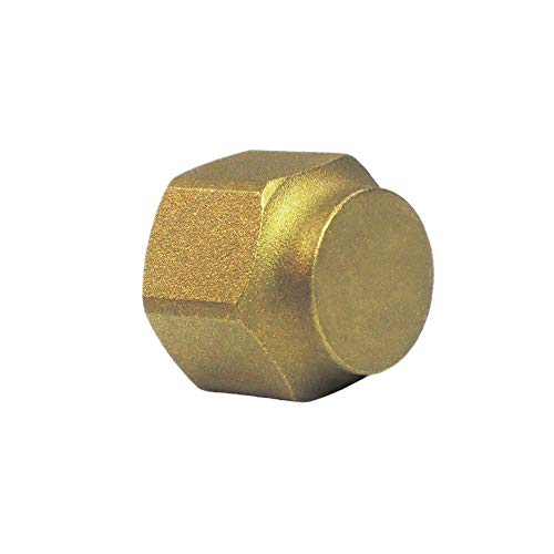 Nigo Industrial Co. Brass Tube Fitting, SAE 45 Degree Flare Fitting, Flare Cap Nut (Nominal Pipe Size: 1/4