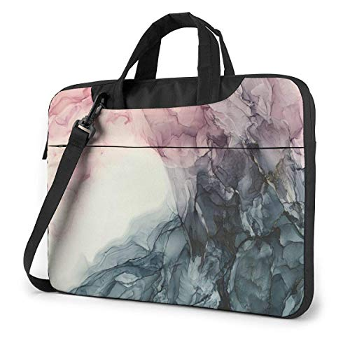 Shockproof Laptop Bag B-lush and Grey Flowing Abstract Computer Bag Durable Case Sleeve Protective Briefcase