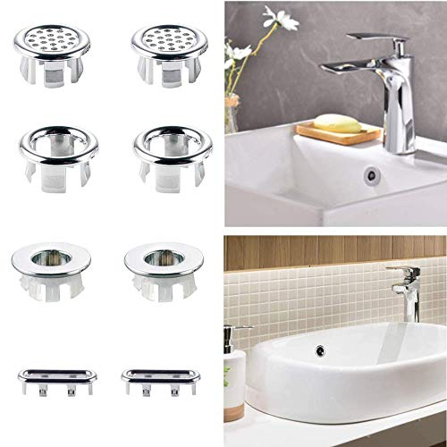 Heatigo Sink Overflow Ring, Kitchen Round wash Basin Overflow Cover, Overflow Hole Decorative Cover, for Kitchen and Bathroom Basin Accessories, Bathroom Sink Hole Round Overflow Drain Cover