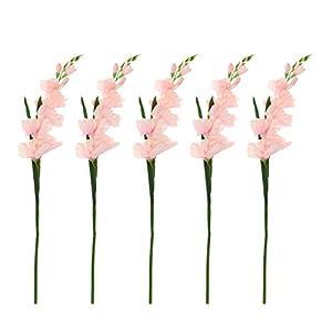 Nobranded 5X Artificial Flower Gladiolus Stem DIY Flowers Bouquets Arrangement