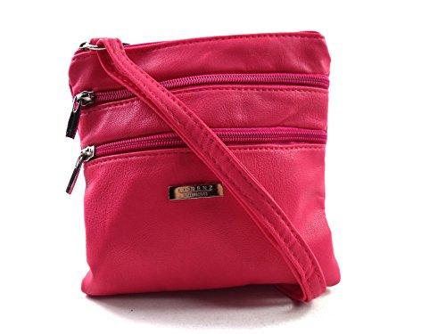 The Leather Emporium, Sac pour femme à porter à l'épaule - rose - cerise,
