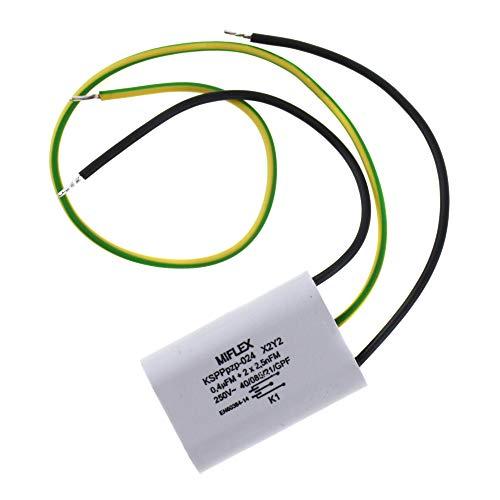 Miflex x2 y2 condensador entstörkondensator kspppz 024 0,4uf 2x 2,5nf 250v AC