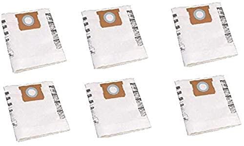LYDPT Accesorios de aspiradora 6 PCS Universal Dry Vac Bolso de Polvo de 5 a 8 galones Aspiradores para la Tienda Vac 5-8 Gallon VF Bolsas de Polvo