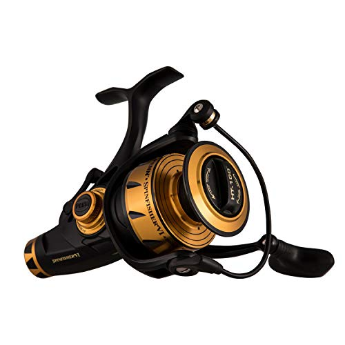"""PENN Fishing Spinfisher VI Live Liner Saltwater Spinning Reel, 4500, 6.5:1 Gear Ratio, 40"""" Retrieve Rate, 6 Bearings, Ambidextrous, Black Gold"""