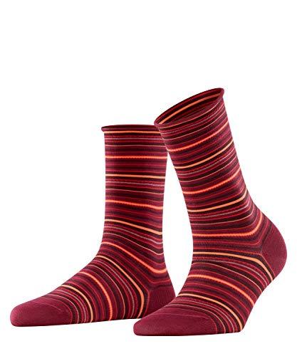 FALKE Damen Socken Origin Stripe, Baumwolle, 1 Paar, Lila (Plum Pie 8407), 35-38 (UK 2.5-5 Ι US 5-7.5)