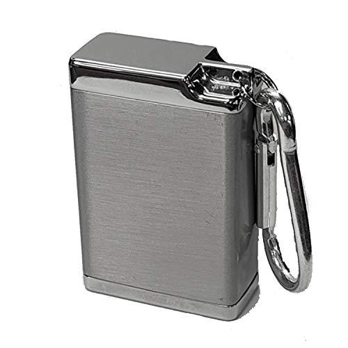 お値打ち工房 携帯灰皿 ボックス型 ポータブル アッシュトレイ シルバー