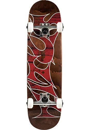 TITUS Skateboards-Complete-Board Stained Schranz-Mini Komplett Board, Brown-Stained, 7.5, bereits fertig montiert, Skateboard für Kinder, Unisex