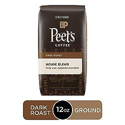 Peet's Coffee House Blend, Dark Roast Ground Coffee, 12 Ounce Bag