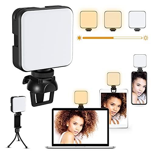 LIWIN Videokonferenz Licht, Videokonferenzen Beleuchtungsset Laptop Computer Handy Webcam Dimmbare Licht mit Clip&Ständer für Fotografie Vlogging Zoom-Meeting Live-Streaming Fernarbeit