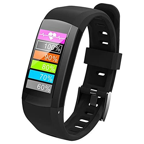 Tanke Pulsera Deportiva S906 GPS Pantalla a Color Reloj Inteligente Monitor de Ritmo cardíaco Fitness Pulsera Deportiva (Negro), 9.45in, Negro