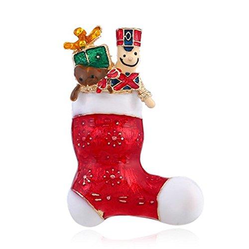 Demarkt Broche chaussette - Broche bottine - Style de Noël - Cadeau - Femme - Homme - Broche Costume Brooch