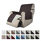Easy-Going Recliner Sofa Slipcover Reversible Sofa Cover Furniture Protector Couch Cover Water Resistant Elastic Straps PetsKidsDogCat(Recliner,Chocolate/Ivory)