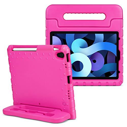 TNP Funda Compatible con iPad Air 4th 10,9 Pulgadas y iPad Pro 3rd 11 Pulgadas 2018, Carcasa Protectora de EVA con Asa Convertible y Función de Soporte para Tabletas, Estuche Antigolpes - Rosa