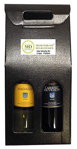 Rotwein und Weisswein Wein Geschenkset aus Istrien Geschenke für Männer Geschenkideen im 2er Weinkarton Geschenkbox (Einweg)