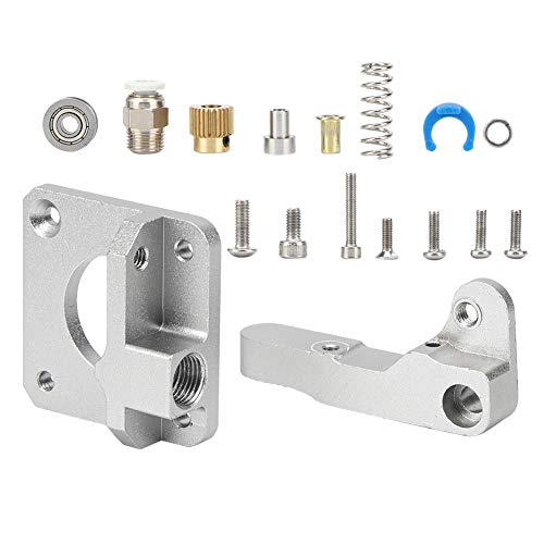 Adaptable Extruder Part, Extruder Parts with Metal for 1.75 Mm Consumables (Silver-gray)