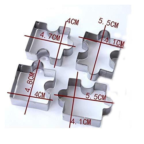 Cortadores de galletas 4 unids / set 3D Puzzle Forma Cortador de...
