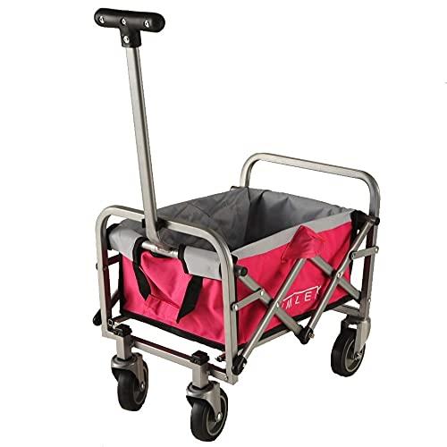 IMLEX Mini Spielzeug Bollerwagen rosa pink faltbar für Kinder für Puppen oder andere Spielsachen …