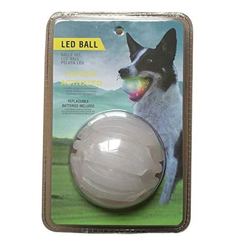 Cheerfulus, giocattolo per cani, indistruttibile, palla luminosa colorata – si illumina al buio con funzione di cura dentale, palla giocattolo da masticare per tutti i cani