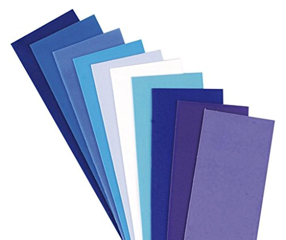 Efco Wax Sheet 200 x 50 x 0,5 mm 10 pcs. Mix Blue