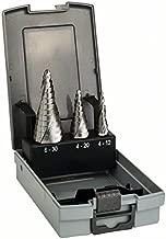 Bosch 2 608 587 426 - Set de 3 brocas escalonadas HSS - 4-12; 4-20; 6-30 mm (pack de 1)