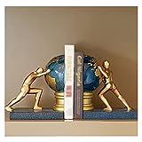HBR Sujeta Libros Felicitación Creativa para estantes de la Mano Que Empuja el Libro de la Tierra Termina la decoración de la decoración de la Resina de la Resina de la Mesa de estantería Book Ends