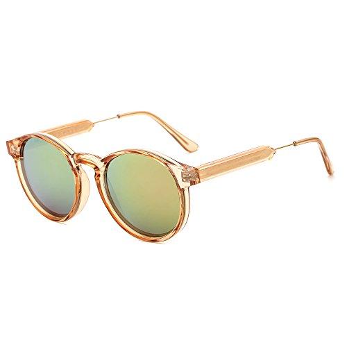 Suertree gafas de sol redondas retro para mujeres hombres...