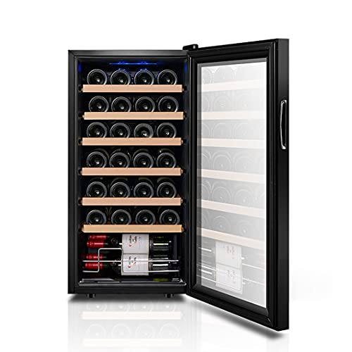 Hmvlw Vinoteca refrigerada Refrigerador de vino electrónico Temperatura constante Hidratar de vino refrigerador de vino Enfriador de vino Rojo y blanco Vino de almacenamiento frigorífico Cocina famili