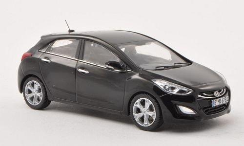 Unbekannt Hyundai i30, schwarz, 5-Türer , 2012, Modellauto, Fertigmodell, Triple 9 Collection 1:43